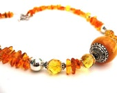 Beeswax Amber necklace with citrine and honey amber beads