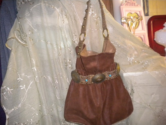 South Western Hobo Bag By Kathy,Designer,accessories,South Western,Hobo style,pocketbook,suede