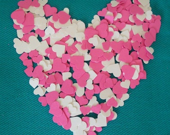1000 Hand Punched Heart Confetti