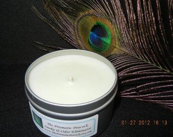 Smoke & Odor Eliminator Soy Candle 8 oz Silver Travel Tin