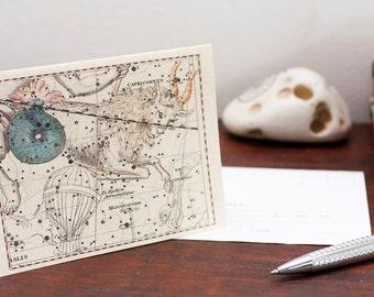 Zodiac Sign Capricorn Constellation Greeting Card