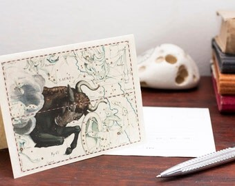 Printable Zodiac Card Zodiac Taurus Sign Constellation Greeting Card Printable Digital File Instant Download Birthday Card PDF Download File