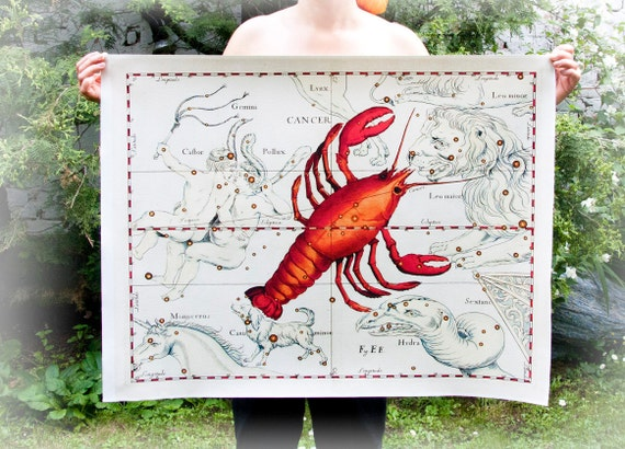 Choose 24 x 30'' Canvas Print - 60x74 cm Zodiac Constelations Astro Sign  Print on Hahnemuhle Fine Art Canvas