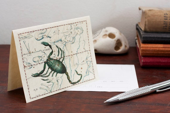 Zodiac Sign Scorpio Constellation Greeting Card