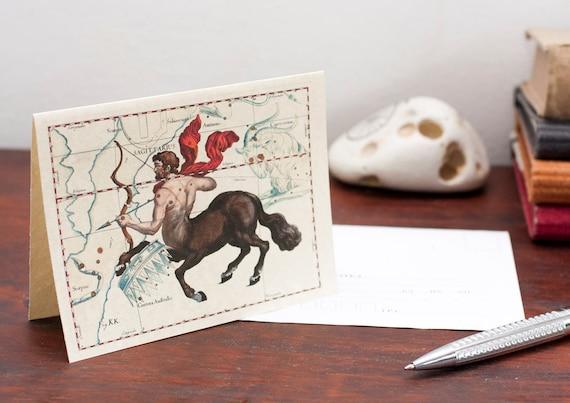 Zodiac Sign Sagittarius Constellation Greeting Card