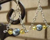 Free Shipping: Baby Blue Pearl Drop Earrings