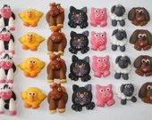 Handmade Animal Cupcake Decorations Edible Toppers x12
