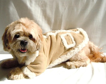 Dog Sheep Skin coat