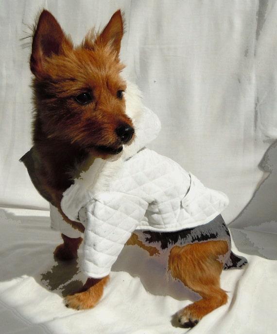 Dog Coat, Ski pup Dog Coat, Dog Jacket, Quilted Jacket, Hood