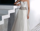 Elegant Pearl-Grey Dress for the special ocassion
