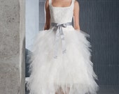 Short tea lenth tulle wedding design inspired dress