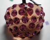 RESERVED for jsara77    FORBIDDEN FRUIT  Berry  Brooch  Pink Lucite and Rhinestones  Item No: 16143