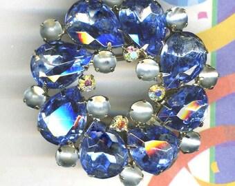 Brooch Blue and Blue Frost Brooch   ITEM NO: 15055