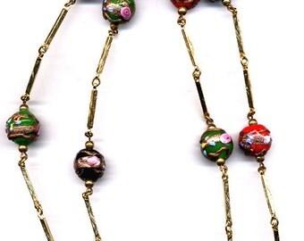 Necklace Vintage Multi Color Venitian Bead    Item No: 14306