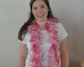 Katia Triana Lux Knit Scarf in Varigated Hot Pink, Pink, and Light pink