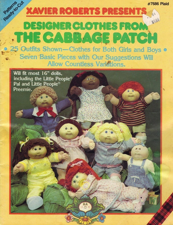 cabbage patch doll clothes sewing patterns by