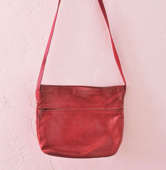 Hot Red Leather Purse Vintage