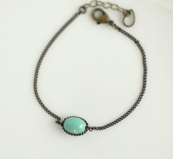 "Green bead bracelet / New arrivals -""chain:D"""