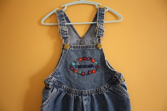Reserved Item   Reserved Item  Vintage OshKosh Denim Overalls Dungarees Toddler Baby Girl Size 3