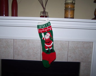 Christmas 2017 Personalized Hand Knitted Christmas Stocking