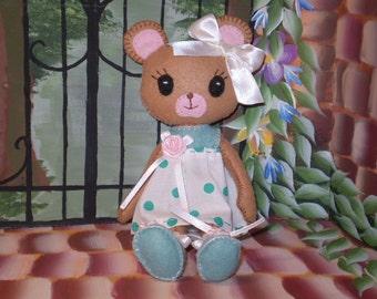 Bear Felt Doll Pdf epattern