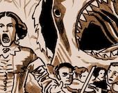 Tragedy 189: Opera Shark Print