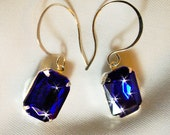 Gorgeous Royal Blue on Sterling Silver Calligraphy wires  Dressy Elegant,Causal too