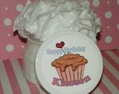 Whipped Body Butter - Birthday Cake (8 oz) - Custom Label