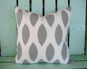 """New 18"""" X 18"""" storm gray and white chipper  print designer fabric- decorative pillow cover-throw pillow-accent pillow"""