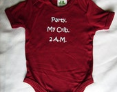 Baby clothing ,baby gift- for new baby -very cute ,Bamboo ,Onesie, 8.5 oz made in Canada, humour- hand printed