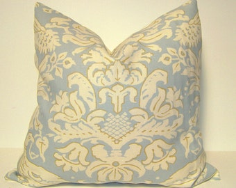 Designer Linen Bird Damask Pillow Cover