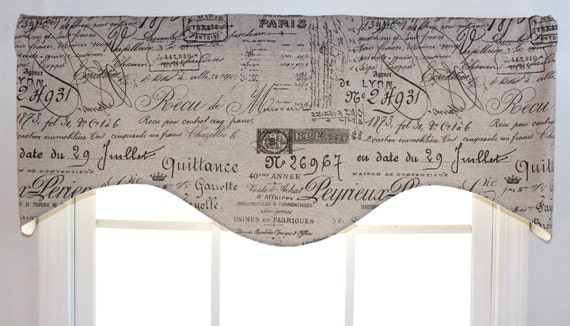 French script shaped valance