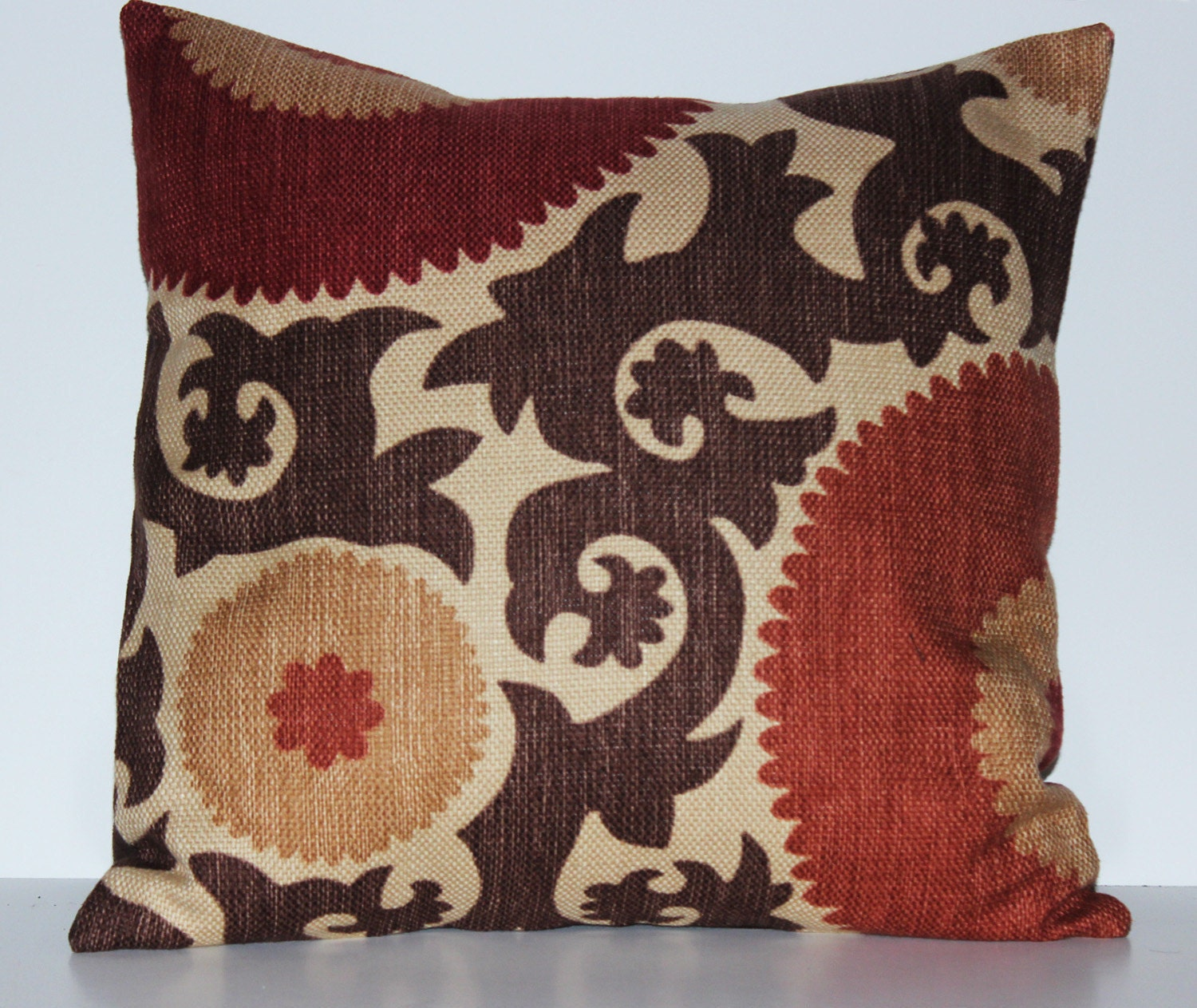 Rustic Suzanni Decorative Pillow 17 x 17 by VieDeJolie on Etsy