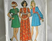 DISCOUNTED 1970's Teen Dress Pattern - Simplicity 5371