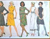 1970's Simplicity Ladies One Piece Dress Pattern - Bust 32 1/2 - no. 5095