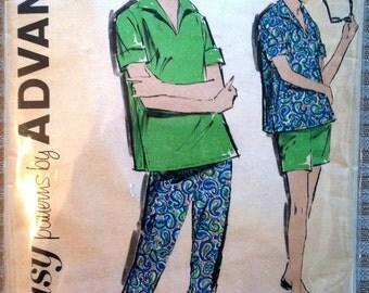 "1960's Advance Maternity Blouse, Pants and Shirt Pattern - Bust 36"" - no. 2788"
