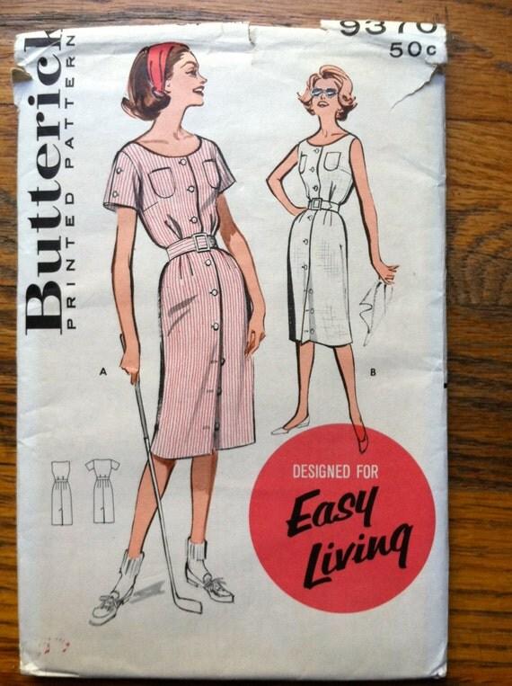 B6453 Butterick Schnittmuster Vintage-Kleid 60er Jahre