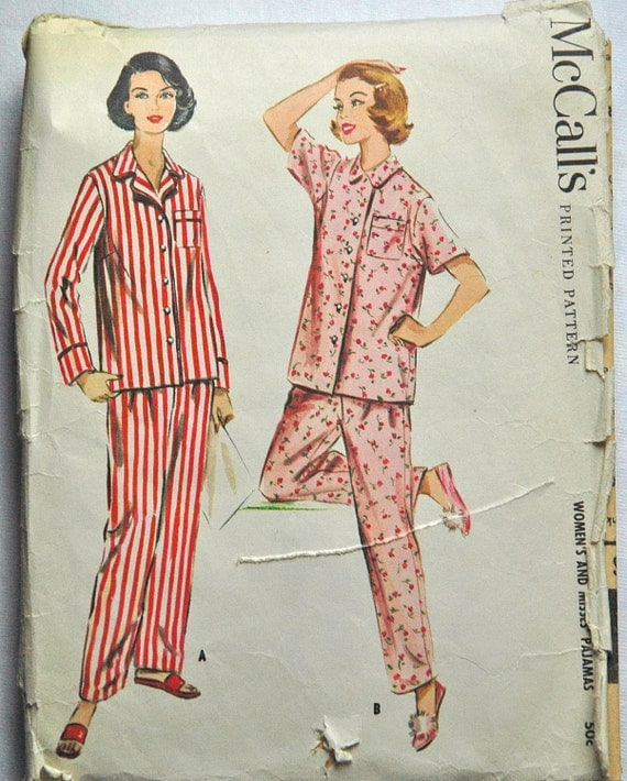 1950's McCall's Pajama Pattern - Bust 32