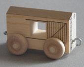 Wooden Toy Train.  Open Box Car.