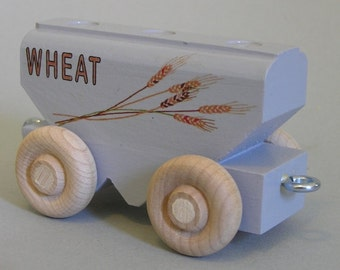 Wooden Toy Train Wheat Car
