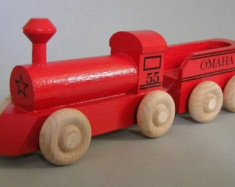 Toy Painted Locomotive Set