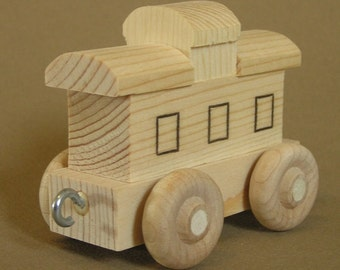 Wooden Toy Caboose