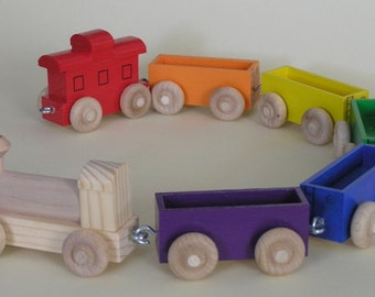 Wooden Toy Train   The Rainbow Train