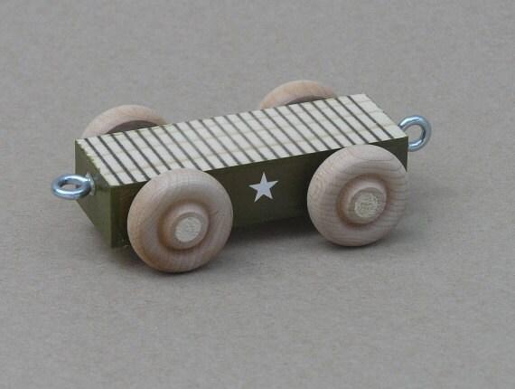 Wooden World War II Army Flat Car