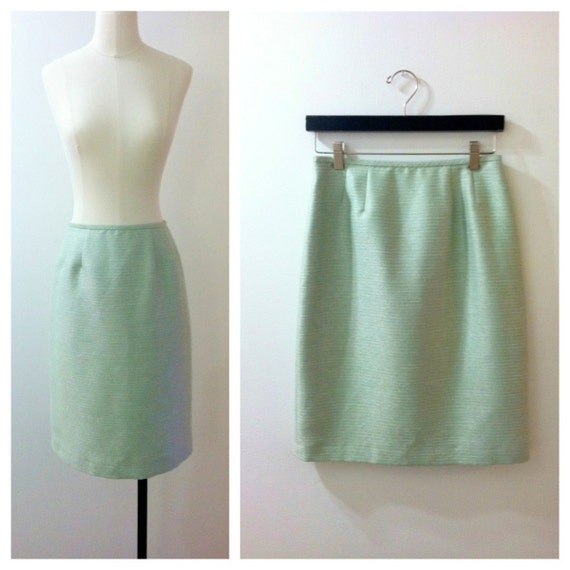 pencil skirt mint green 1960 s by brecksvintage on etsy