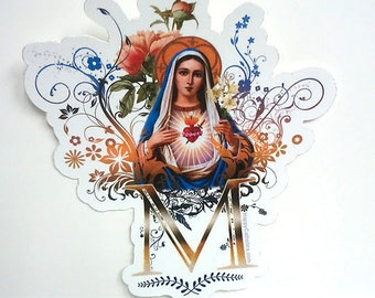 Immaculate Heart of Mary Die Cut Vinyl Sticker