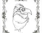 CUCKOO GRIM - character concept fine art print 5x7