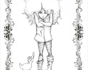 Ool LaSlumber & The Poot - character concept fine art print 8.5x11