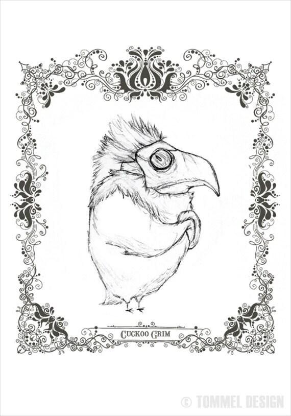 CUCKOO GRIM - character concept fine art print 8.5x11