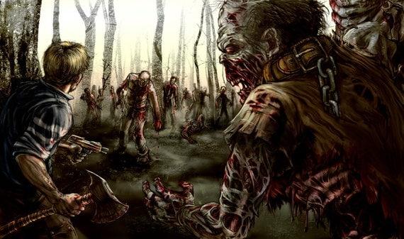 Resultado de imagem para concept art horror zombie